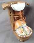 Vintage Collectible Ceramic Boot by The Clay Cobbler Flower Pot Vase