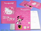 Hello Kitty or Minnie Mouse Exercise Book DIN A5, Disney Mickey Mouse