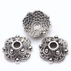 50 200 Tibet Silver Plated Flower Spacer Bead Caps Jewelry Making DIY 8x3 10X3mm