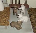 Willow Tree Nativity Replacement pieces Donkey  4 sheep 2 black 2 white NEW+