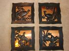 set of 4 coppercraft wildlife pictures