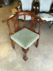Antique 18th / 19th Century Chippendale Style Corner Chair w/ Ball