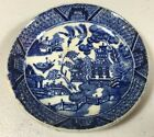 O'Neil James England Antique Butter Pat Blue Willow Pattern Early A