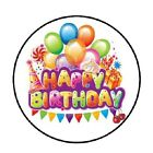 48 Happy Birthday Balloons 5 ENVELOPE SEALS LABELS STICKERS 12 ROUND