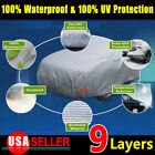 Multi-size 9 Layers Water Rain Snow Proof Car Cover Universal Fit Sun Uv Resist