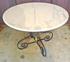 ANTIQUE WROUGHT IRON MARBLE TOP TABLE IN MINT CONDITION *ESTATE
