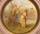 SCRUMPTIOUS ROYAL VIENNA HAND PAINTED CHERUB CUPID CABINET PLATE SIGNED TAGOR