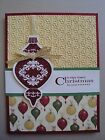ORNAMENT CHRISTMAS Card Kit 4 cards lot Stampin up