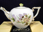 HEREND QUEEN VICTORIA ROYAL GARDEN TEAPOT,FOR 2 TEA CUPS,BUTTERFLY LID END
