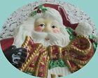 FITZ AND FLOYD ESSENTIALS HOLIDAY SANTA WITH WREATH WALL HANGING/POTPOURRI BOWL