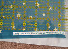 NEW Tiny Tots Vintage Workshop Indygo Junction RED ROOSTER FABRICS 1/4 yd