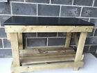NEW HAND MADE 4FT WOODEN WORK BENCH NEW KITCHEN TOP STYLE HEAVY DUTY