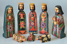 on sale 8Pc NATIVITY  CHRISTMAS GUATEMALAN FOLK ART8in TALL