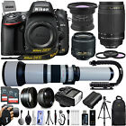 Nikon D610 243mp DSLR Camera w 6 Lens 15 2600mm 28 PC 128GB SD Ultra Zoom Kit