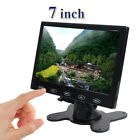 HD 7 Inch Ultra Thin TFT LCD HD Monitor Audio Video HDMI VGA w Speaker + Adpater