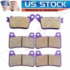 Front+Rear Carbon fiber Brake Pads For HONDA CBR 600RR 2007 2008 2009 2010 2011