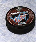 Mike Babcock Detroit Red Wings Autographed 1998 Stanley Cup Puck-AJ Sports COA