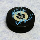 Wendel Clark Toronto Maple Leafs Autographed Hockey Puck - Captain Crunch