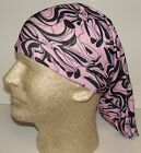 pink black fashion line chemo therapy hair loss head wrap cover turban scarf wig