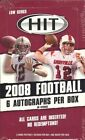 2008 Sage Hit Low Series Football Hobby Box 6 Autos Per Box