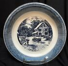 Ives Royal China Pie Plate Winter Scene with Sleigh Ride