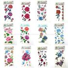 12 sheets lot rose flower butterfly wholesale bulk temporary tattoo stickers