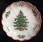 SPODE Christmas Tree Red Band Round Fluted Dish 2nd in Limited Series S3324W 33