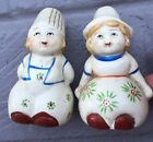 Salt Pepper Shaker Vintage Made Japan Dutch Boy Girl Approx3