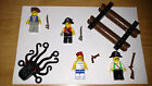 LEGO PIRATE MINIFIGS Lot Raft Boat Octopus Weapon Vintage Caribbean Captain Hook