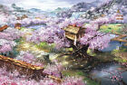 Cherry Blossom Sakura House Jigsaw Puzzle 1000 piece Intelligence Toy Best Gift