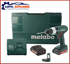 METABO SB18LI 18V COMBI DRILL 2 x 2Ah Li BATTERIES,CHARGER,BITS,CASE 602190510
