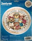 TEDDY BEAR COLLECTOR Stamped Cross Stitch Kit janlynn Diane Knott 12
