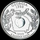 1999 P Georgia State Quarter New U.S. Mint