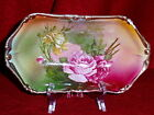 Victorian Rose with Gilt Trimmed Serving Dish, Heavy Rich Decoration