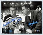 Bobby Orr & Harry Sinden Boston Bruins Dual Signed 1966 Rookie 16x20 Photo