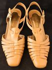 Womens Bella Vita Lattice Leather Slingback Sandals Beige Size 7M