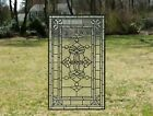 205 x 3425 Stunning Handcrafted All Clear stained glass Beveled window panel