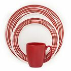 Corelle® Boutique™ Brushed 16-Pc Dinnerware Set, Red