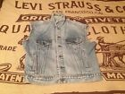 MADE IN USA LEVIS VINTAGE DISTRESSED JEAN JACKET MOTORCYCLE VEST SIZE L
