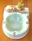 Wembley Ware Gold Horse Green Ash Tray With Original Old Style Stamp