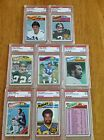8 - 1977 Topps Football PSA Graded LOT !! ( 8 CARDS TOTAL) Franco Harris!
