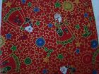Christmas Fabric Piece Old World Santa's David English Collection NEW Unwashed
