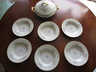 Princess China Floral Covered Casserole Vegetable Soup Dish and 6 Bowls