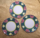 CERAMICA ARTE BELLO 3 Dinner Plates-Pig Motif-Identical to Pottery Barn-Mexico