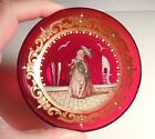 Antique Venetian Ruby Art Glass Dish - Grand Tour Souvenir