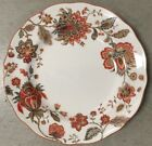 New 222 Fifth Winter Floral Red Round Dinner Plates Set Of 4 Christmas Floral