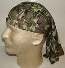 army green black camo chemo therapy hair loss head wrap cover turban scarf wig