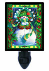 Night Light - Snowman and Holly - Snowballs - Winter - Christms