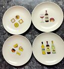 4 Nancy Green Cheese Wine 2001 Boston Warehouse Trading Appetizer Plates 6.5
