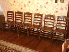 Early 1900's Antique Pressed Back Chairs Set Of Six 7th chair free